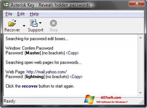 Screenshot Asterisk Key Windows 7