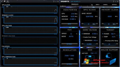 Screenshot GIGABYTE OC Guru Windows 7