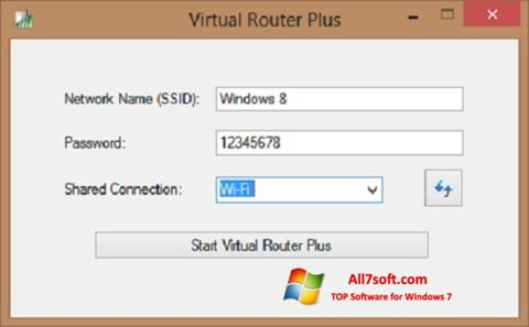 Screenshot Virtual Router Plus Windows 7