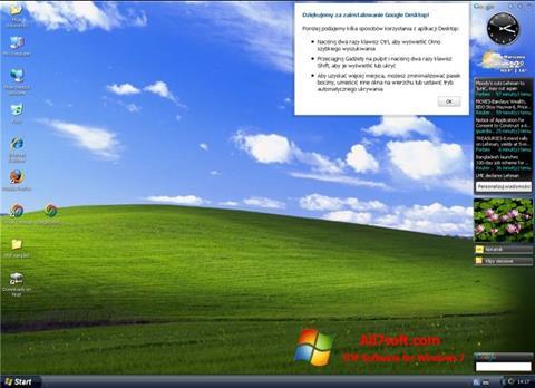 Screenshot Google Desktop Windows 7