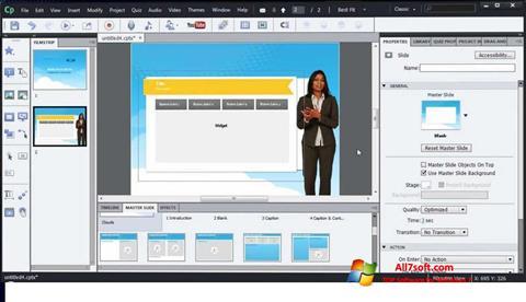 Screenshot Adobe Captivate Windows 7