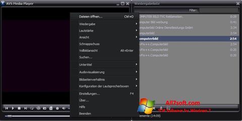 Screenshot AVS Media Player Windows 7