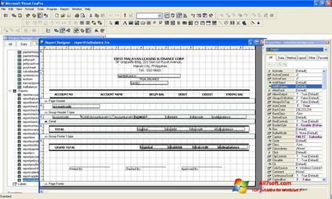 Screenshot Microsoft Visual FoxPro Windows 7