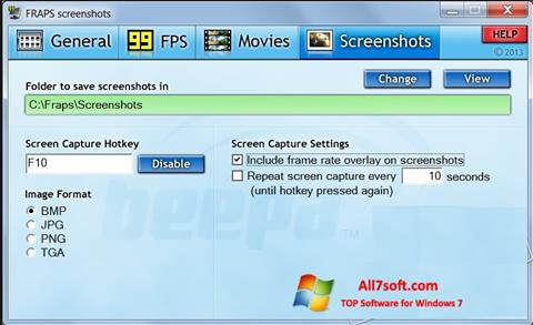 Screenshot Fraps Windows 7
