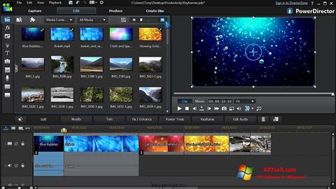 Screenshot CyberLink PowerDirector Windows 7