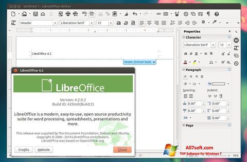 Screenshot LibreOffice Windows 7