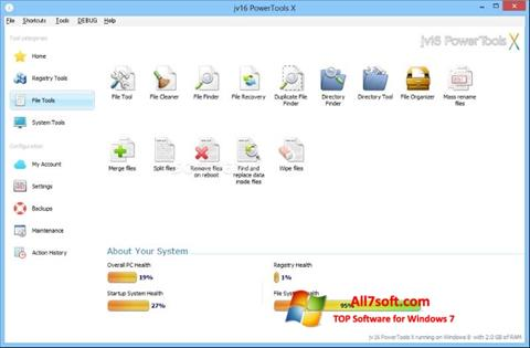 Screenshot jv16 PowerTools Windows 7