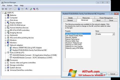 Screenshot REALTEK RTL8139 Windows 7