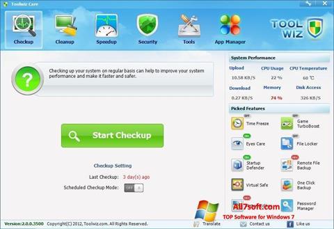 Screenshot Toolwiz Care Windows 7