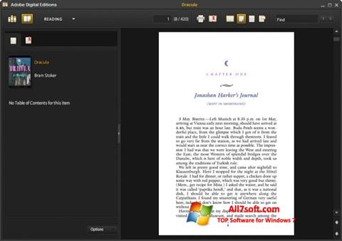 Screenshot Adobe Digital Editions Windows 7