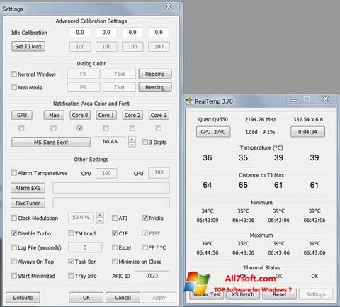 Screenshot Real Temp Windows 7