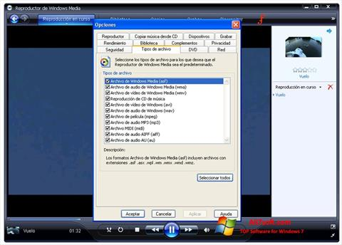 Screenshot Windows Media Player Windows 7