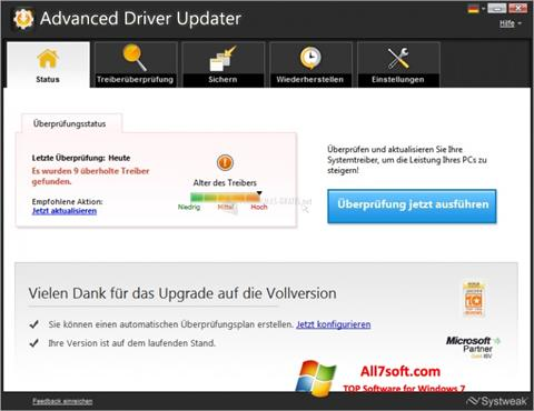 Screenshot Advanced Driver Updater Windows 7