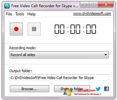 Screenshot Free Video Call Recorder for Skype Windows 7