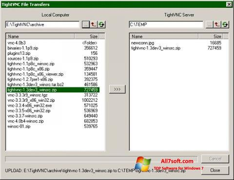Screenshot TightVNC Windows 7