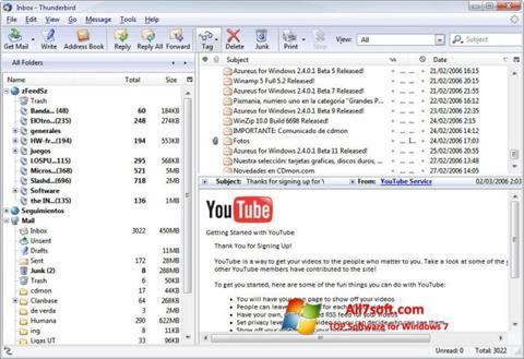 Screenshot Mozilla Thunderbird Windows 7