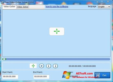 Screenshot Free Video Cutter Windows 7