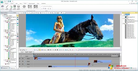 Screenshot VSDC Free Video Editor Windows 7